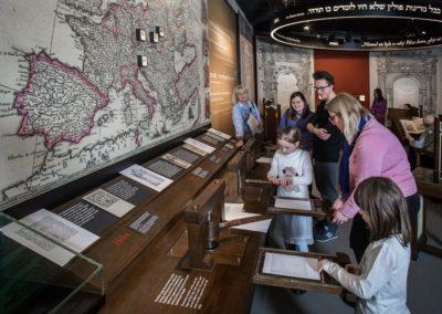 Muzeum Historii Żydów Polskich Polin, wystawa stała, drukarnia, fot. M. Starowieyska_MHŻP Polin
