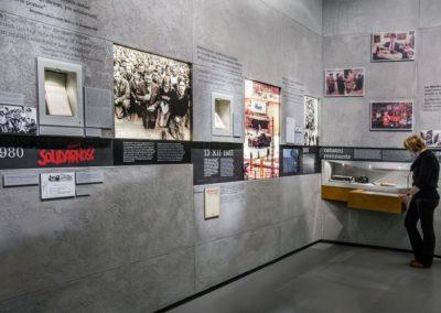 Muzeum Historii Żydów Polskich, wystawa stała, Solidarność, fot. M. Starowieyska_MHŻP Polin
