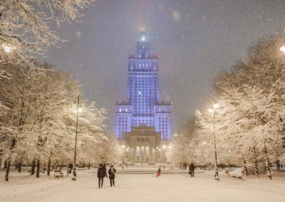 Pałac Kultury i Nauki zimą, fot. Filip Kwiatkowski