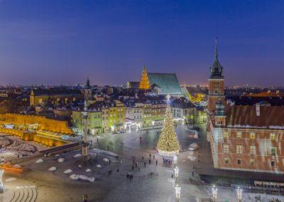 Plac Zamkowy_iluminacja świąteczna, fot. Filip Kwiatkowski