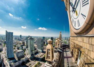 Zegar na Pałacu Kultury i Nauki, fot. m. st. Warszawa