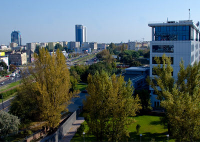 Panorama z wieży widokowej Muzeum Powstania Warszawskiego, fot. Piotr Wierzbowski