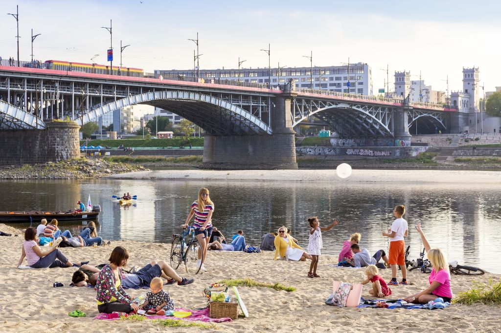 Plaża Poniatówka, fot. m.st. Warszawa