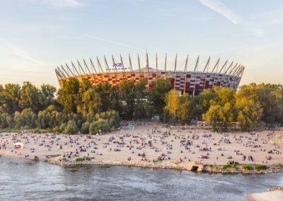 Plaża Poniatówka, PGE Narodowy, fot. Filip Kwiatkowski