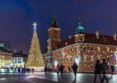 Plac Zamkowy, Iluminacja Świąteczna, fot. Warszawska Organizacja Turystyczna