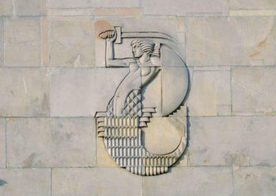 Syrenka na budynku filtrów warszawskich, fot. Teresa Witkowska