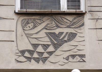 Syrenka na budynku przy placu Zamkowym 10, fot. Tomasz Nowak