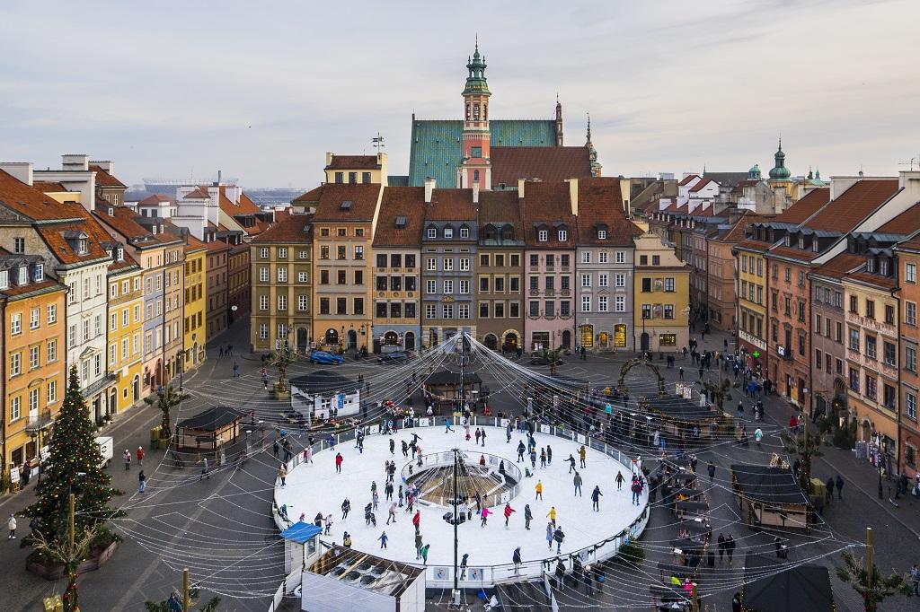 Lodowisko na Rynku Starego Miasta, fot. Filip Kwiatkowski