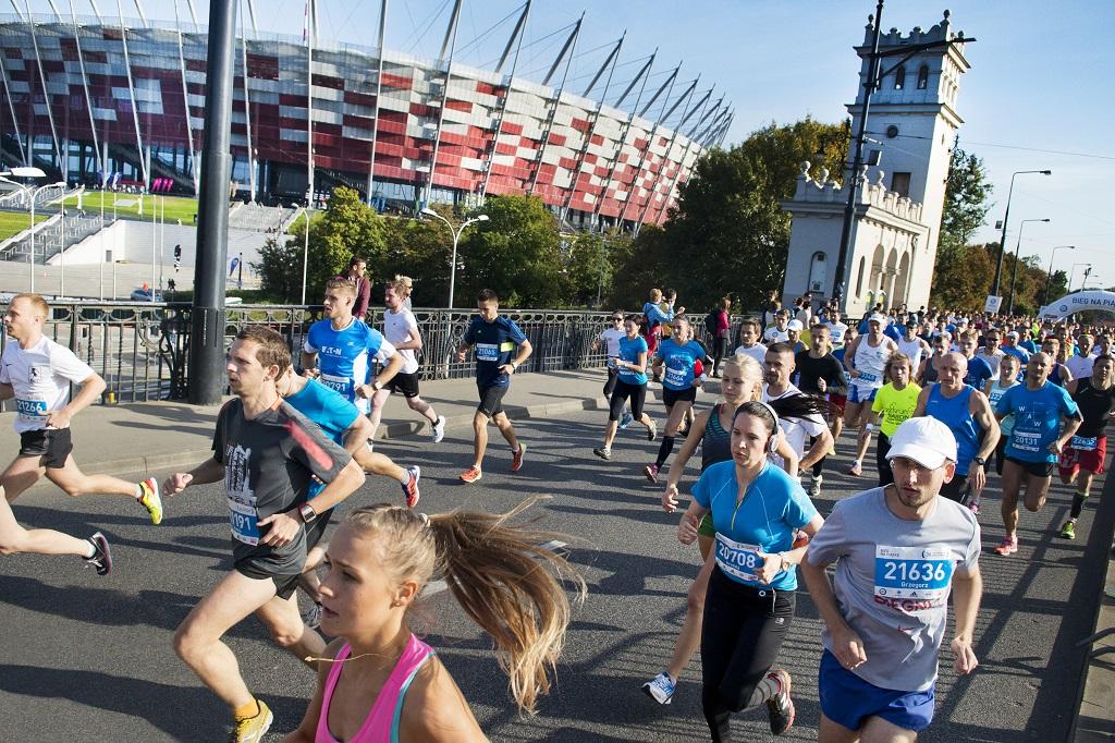 Maraton przy Stadionie Narodowym, fot. m.st. Warszawa