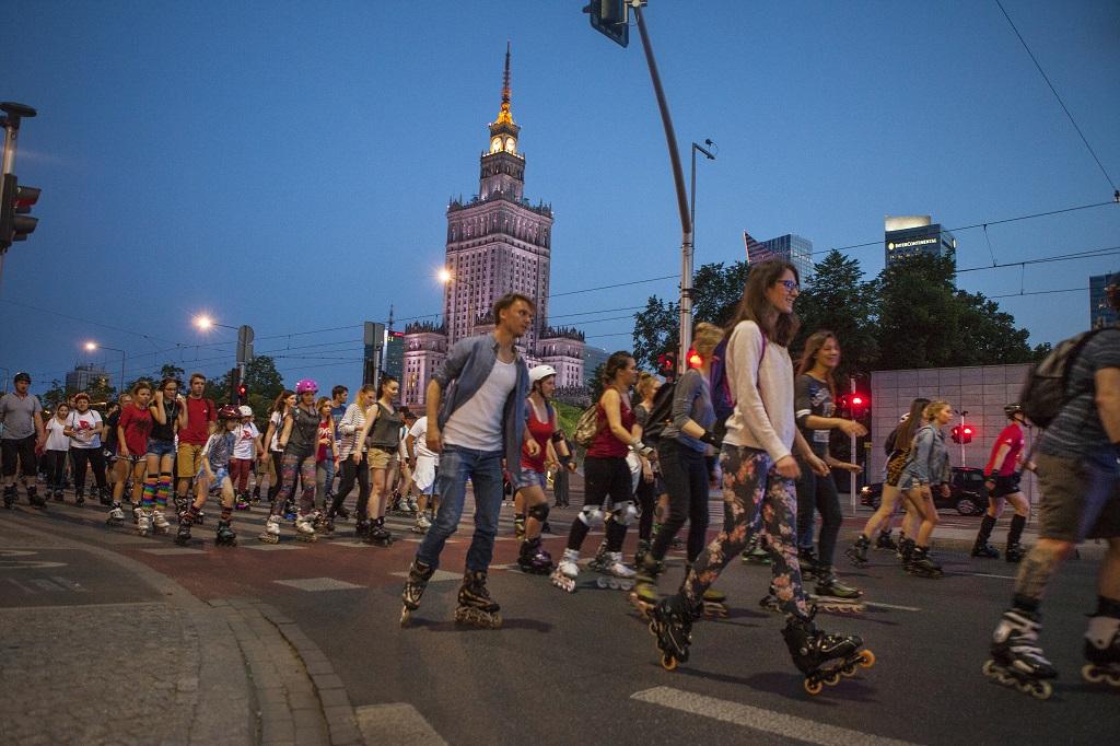 Nightskating, fot. m.st. Warszawa