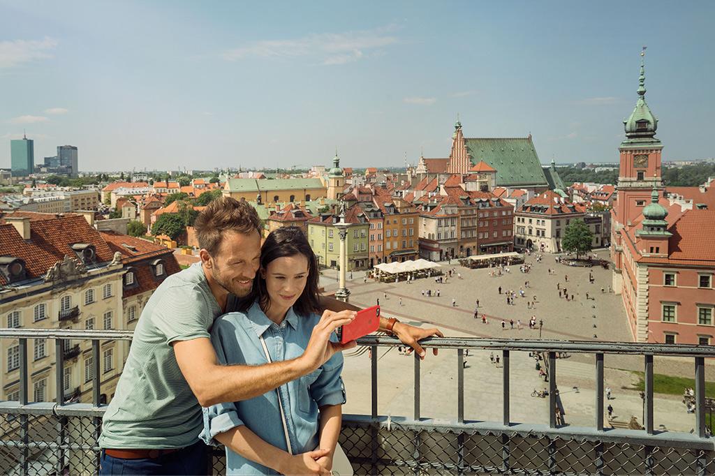 Widok z wieży Kościoła św. Anny, fot. m.st. Warszawa