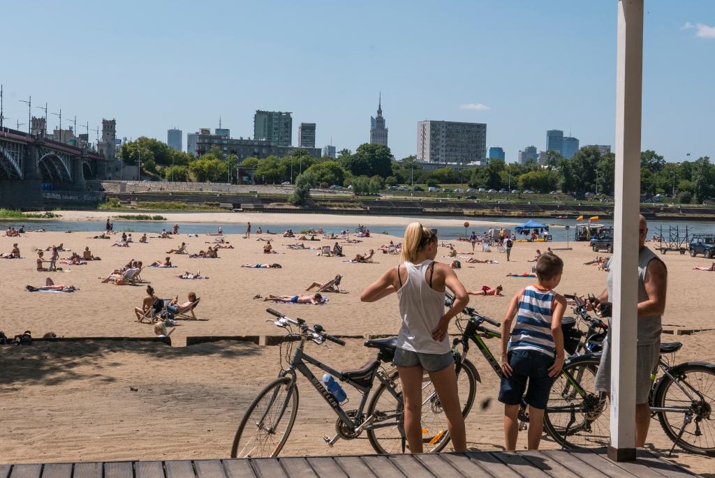 Plaża Poniatowka, fot m.st. Warszawa