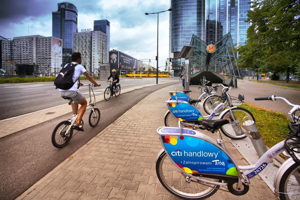 Rower Veturilo na drodze rowerowej, fot. Nextbike
